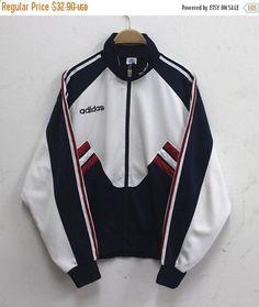 Año nuevo venta Adidas chaqueta Vintage Adidas por HeroZoneClothing  Chaqueta Adidas Vintage 745c372acc3
