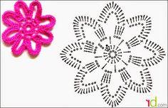 Para reciclar prendas antiguas, o poner un toque de color, las flores tejidas al crochet son insuperables: fáciles, coloridas, de variados...