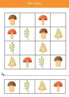 Sudoku Puzzles, Puzzles For Kids, Spelling Games For Kids, Vegetable Cartoon, Cartoon Vegetables, Educational Math Games, Kids Math Worksheets, Newspaper Crafts, Learning Numbers