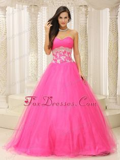 Buy inexpensive puffy tulle hot pink prom attire with appliqued waist from prom dress hot sale collection, sweetheart neckline ball gowns in pink hot pink color,cheap floor length dress with lace up back and for sweet 16 quinceanera . Pretty Quinceanera Dresses, Pretty Prom Dresses, Prom Dress 2014, Pink Prom Dresses, Plus Size Prom Dresses, A Line Prom Dresses, Prom Dresses Online, Homecoming Dresses, Cute Dresses