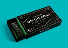 Packaging for Triumph & Disaster's travel kit On The Road designed by DDMMYY — Designspiration Smart Packaging, Packaging Solutions, Brand Packaging, Tea Packaging, Product Packaging, The Road, Brand Identity, Branding, Identity Design