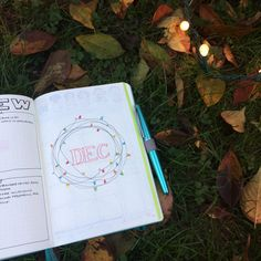 Plan WIth Me: Bullet Journal Setup for December 2017   Blossoms and Bullet Journalscove