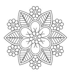 Mandalas Drawing, Mandala Coloring Pages, Mandala Painting, Colouring Pages, Coloring Books, Hand Coloring, Adult Coloring, Hand Embroidery Patterns Free, Embroidery Flowers Pattern