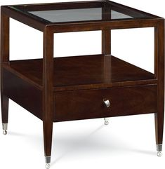 Spellbound Rectangular End Table This Occasional Reveals And Conceals The Glass Top Over An Living Room TablesLiving Furniture Thomasville