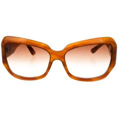 Pre-owned Oliver Peoples Athena Gradient Sunglasses ($65) ❤ liked on Polyvore featuring accessories, eyewear, sunglasses, brown, brown glasses, acetate sunglasses, oliver peoples sunglasses, gradient sunglasses and gradient lens sunglasses