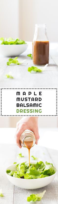 The absolute very best best best salad dressing in the world!! This Maple Mustard Balsamic Dressing recipe will end up being your one and only forever