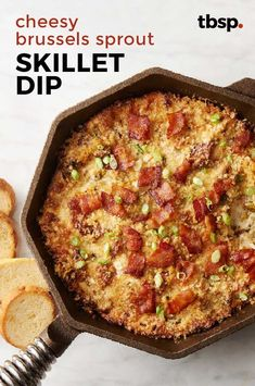 Bacon, cheese, Brussels sprouts—what more do you need for an A-plus party dip? Appetizer Ideas, Appetizer Recipes, Appetizers, Spaghetti Sandwich, Cooking Recipes, Healthy Recipes, Side Recipes, Brussels Sprouts, Burgers