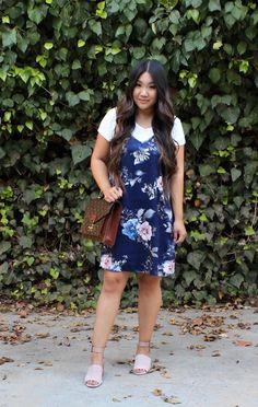 2 in 1 Floral Slip Dress