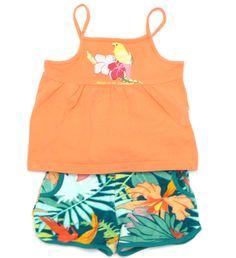 Dschungel Outfit mit Wellensittich für bunte Vögel.