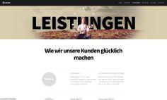webdesign screenshot for inspirations /  our work on: www.resign.ch/webagentur