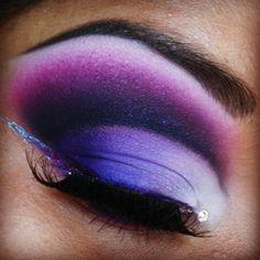 dramatic dark purple cut crease by queenofblending love! #makeup