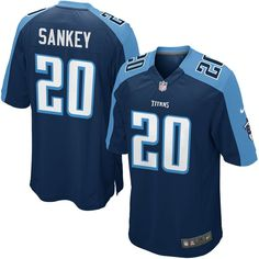 2d863c8901d Bishop Sankey Tennessee Titans Nike Youth Alternate Game Jersey - Navy Blue