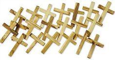 """1.75"""" Inch Olive wood Crosses for Crafts, Novel Merk 20-Piece Wooden Cross Set Made in the Holy Land Available on Prime! $19.99 https://www.amazon.com/Novel-Merk-Homeschooling-Fundraising-Religious/dp/B01E7ZRN2G"""
