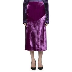 Nina Ricci Women's Stretch Velvet Skirt - Purple (98.330 RUB) ❤ liked on Polyvore featuring skirts, apparel & accessories, purple, long skirts, nina ricci skirt, nina ricci, long stretchy skirts and slimming skirts