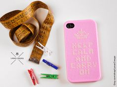 Keep Calm and Carry on Cross Stitch Case for iPhone by me :)