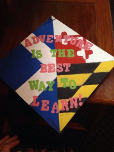 Graduation Cap With Dance Themed Decor Left Half With