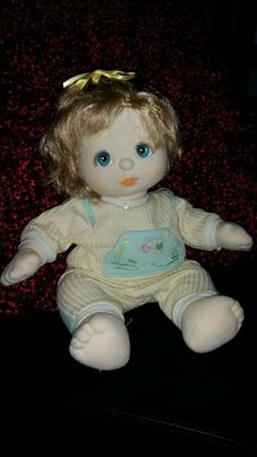 Ash Blonde My Child Doll Top Knot w/ original jumpsuit Child Doll, Ash Blonde, Top Knot, Bellisima, Knots, Jumpsuit, Dolls, Christmas Ornaments, The Originals