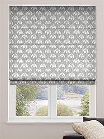 Roman Blinds - Fabric Roman Blinds at Stunning Prices. Grey Roman Blinds, Fabric Blinds, Kitchen Curtains, Soft Fabrics, Luxury, Home Decor, Fabric Window Shades, Decoration Home