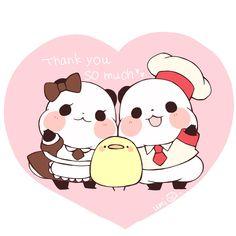 Panda Love, Cute Panda, Cute Kawaii Animals, Kawaii Cute, Bee Painting, Chibi Cat, Cartoon Panda, Panda Party, Cute Paintings
