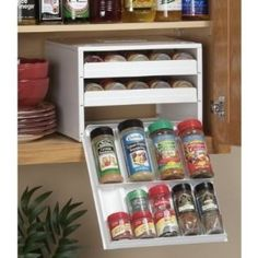 Space saving spice rack