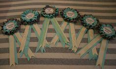 diy bridesmaid ribbon medallions