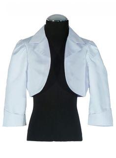PC487 Mädchen Bolero weiß - Abendkleider von Susanne Samtlebe®, Goslar