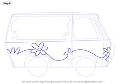 Learn How to Draw The Mystery Machine from Scooby-Doo (Scooby-Doo) Step by Step : Drawing Tutorials