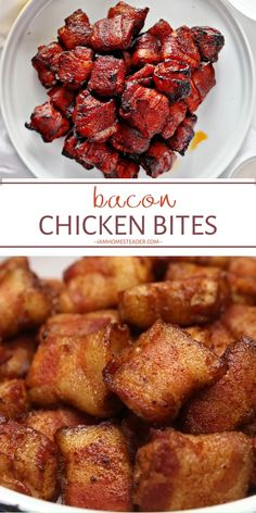 BACON CHICKEN BITES Bacon Chicken Bites are an amazing appetizer for Easter! A mixture of sweet caramelized brown sugar and the spicy heat of cayenne pepper round out the savory and sweet tones to per Best Appetizer Recipes, Bacon Recipes, Yummy Appetizers, Cooking Recipes, Easter Recipes, Recipes Dinner, Bacon Wrapped Appetizers, Smoked Sausage Recipes, Easter Appetizers