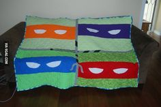 TMNT quilt my friend just finished.  Awesome job!