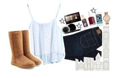 """""""Having no regrets is all that she really wants"""" by abbychu ❤ liked on Polyvore featuring American Eagle Outfitters, Mary Kay, WallPops, UGG Australia, Maybelline, Essie and MICHAEL Michael Kors"""
