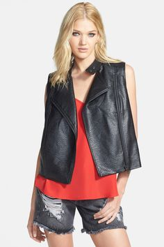 Leith Faux Leather Moto Vest by Leith on @nordstrom_rack
