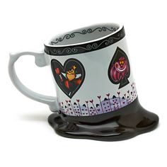 Disney Disneyland Paris Alice In Wonderland Melted Coffee Mug New ...