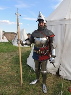 up to date photo of my knight in armour for end of century, Morimondo Italy 2015 Medieval Life, Medieval Knight, Medieval Armor, Medieval Fantasy, Christian Soldiers, Knight Armor, Medieval Costume, Suit Of Armor, Arm Armor