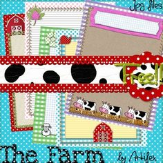 "FREE!!  5 Farm border frames. adorable!! .....Follow for Free ""too-neat-not-to-keep"" teaching tools & other fun stuff :)"