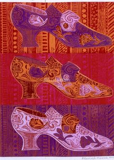 The use of colours that are analogous is very evident here. The colours used are warm colours. All images are basically the same but the artist uses different colours between purple, light purple, orange and red.