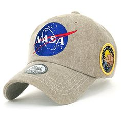 8348573f0c3 ililily NASA Meatball Logo Embroidery Baseball Cap Apollo... https   www
