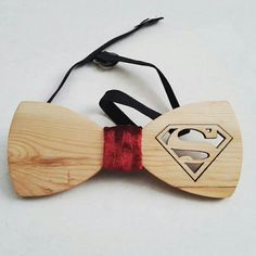 Wooden bow tie...superman style by PurplePatchInternational
