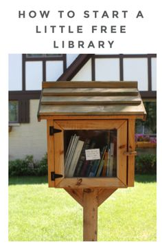 Little Free Library Plans, Little Library, Little Free Libraries, Mini Library, Dream Library, Fun Easy Crafts, Fun Crafts For Kids, Library Design, Library Ideas