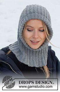 Warm Snuggles / DROPS 214-71 - Gratis strikkeoppskrifter fra DROPS Design Knitting Patterns Free, Free Knitting, Free Pattern, Crochet Patterns, Drops Design, Magazine Drops, Knit Crochet, Crochet Hats, Beanies
