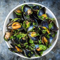 Mussels with wild garlic butter sauce @heddonstkitchen ! Stunning #seafood #mussels by gordongram