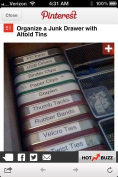 Drawer -little stuff- altoid cans