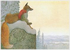 Lennart Helje is a Swedish illustrator particularly known for his wondrously moody paintings of gnomes either with animals or wi. Art And Illustration, Fantasy Kunst, Fantasy Art, Fox Art, Pics Art, Elves, Illustrators, Fairy Tales, Creatures