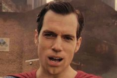 I could not tell... at all.   The 10 Most Terrifying Shots of Superman's CGI Mouth in 'Justice League' https://www.thewrap.com/the-10-most-terrifying-shots-of-supermans-cgi-mouth-in-justice-league-photos/?utm_campaign=crowdfire&utm_content=crowdfire&utm_medium=social&utm_source=pinterest