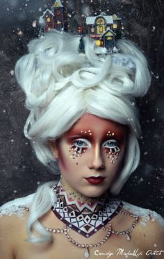 The 23-year-old transforms her models using incredible make-up and props.   This Woman's Incredible Make-Up Transformations Are Spooky Yet Beautiful