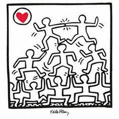 Eurographics KH526 Keith Haring, Untitled, 1987 70 x 70 cm, Hochwertiger Kunstdruck