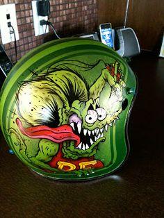 Dave Fried: rat fink helmet