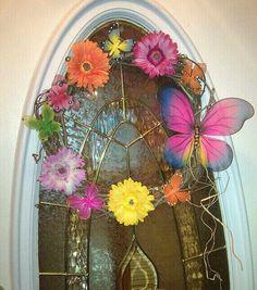 my grapevine spring wreath :)