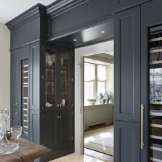 Open into pantry/ side facing cabinetry Beautiful Butler& Pantry. Open into pantry/ side facing cabinetry Beautiful Butler& Pantry… – Gre… Open into pantry/ side facing cabinetry Beautiful Butler& Pantry… – Greige Design Home Design, Küchen Design, Design Ideas, Design Color, Design Projects, Style At Home, Kitchen Pantry, Kitchen Decor, Kitchen Cabinets