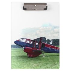 """Dragon Rapide Clipboard idea gift for the aviation enthusiast Excellent for note-taking and organizing important papers, these  ultra-sturdy acrylic clipboards will keep you on track and in style. Dimensions:  12.5""""l x 9""""w"""