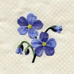 Blue Flax (for Wildflower quilt)